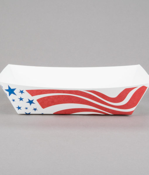 red paper tray american flag paper food tray 5 lb 50 pack black cat avenue